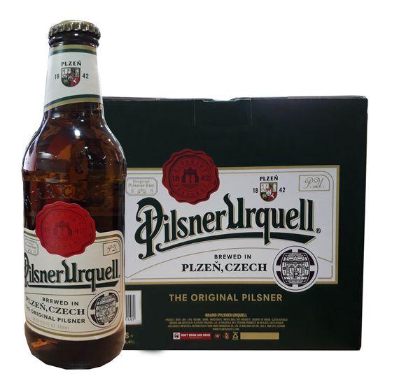 Bia chai Pilsner Urquell 330ml (Cộng Hòa Czech) (Thùng 24 chai)